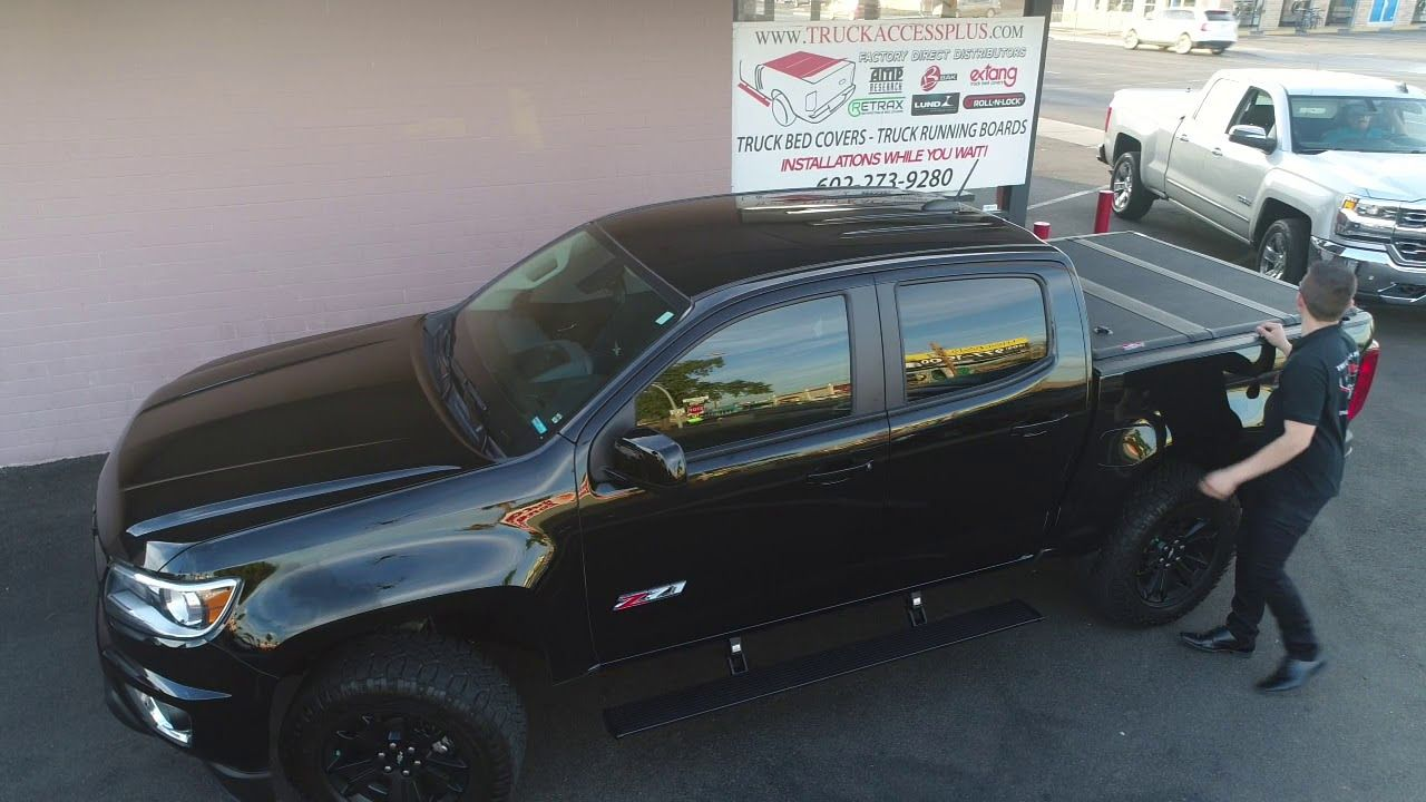 Chevy Colorado Truck Bed Cover Power Steps Youtube