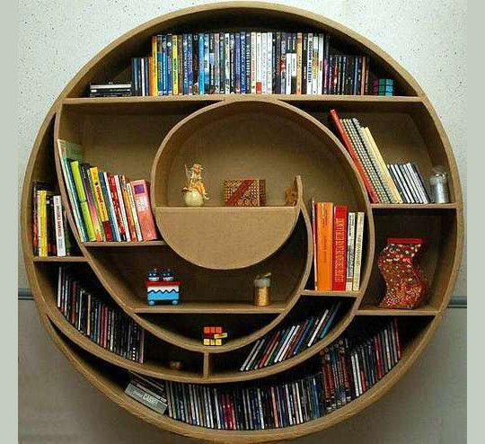 20 Most Creative And Unusual Bookshelf Designs Smashingapps Com Cardboard Furniture Cool Bookshelves Creative Bookshelves