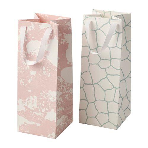 MÅNGFALD Geschenktüte IKEA Ideal für eine große Flasche oder andere Geschenke. Handarbeit, geschaffen von talentierten Kunsthandwerkern.