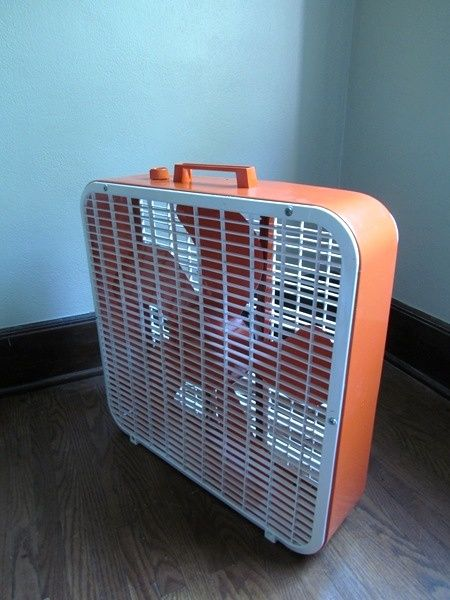 Diy Color Popped Box Fan Courtesy Metal Spray Paint