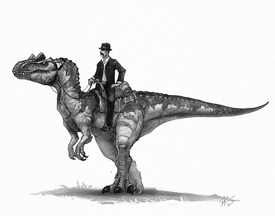 Uncategorized Sketches Of Dinosaurs the gentleman and allosaurus western dinos pinterest artwork
