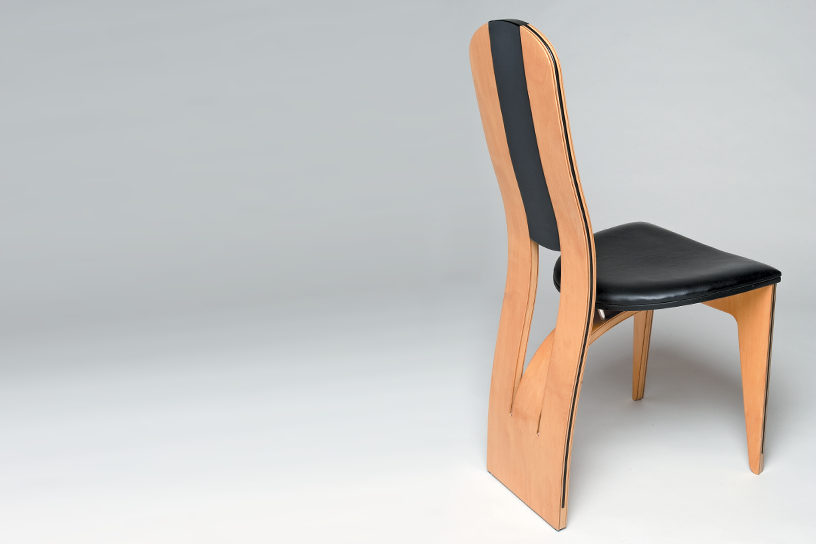 Elegant JOHN SMITH, RIPTIDE CHAIR, 1997 HUON PINE, PLYWOOD, LEATHER 900(H) X 450(W)  X 500(D) Mm THE WORK The Riptide Chair Is Part Of A Series Of Furniture  Pieces, ...