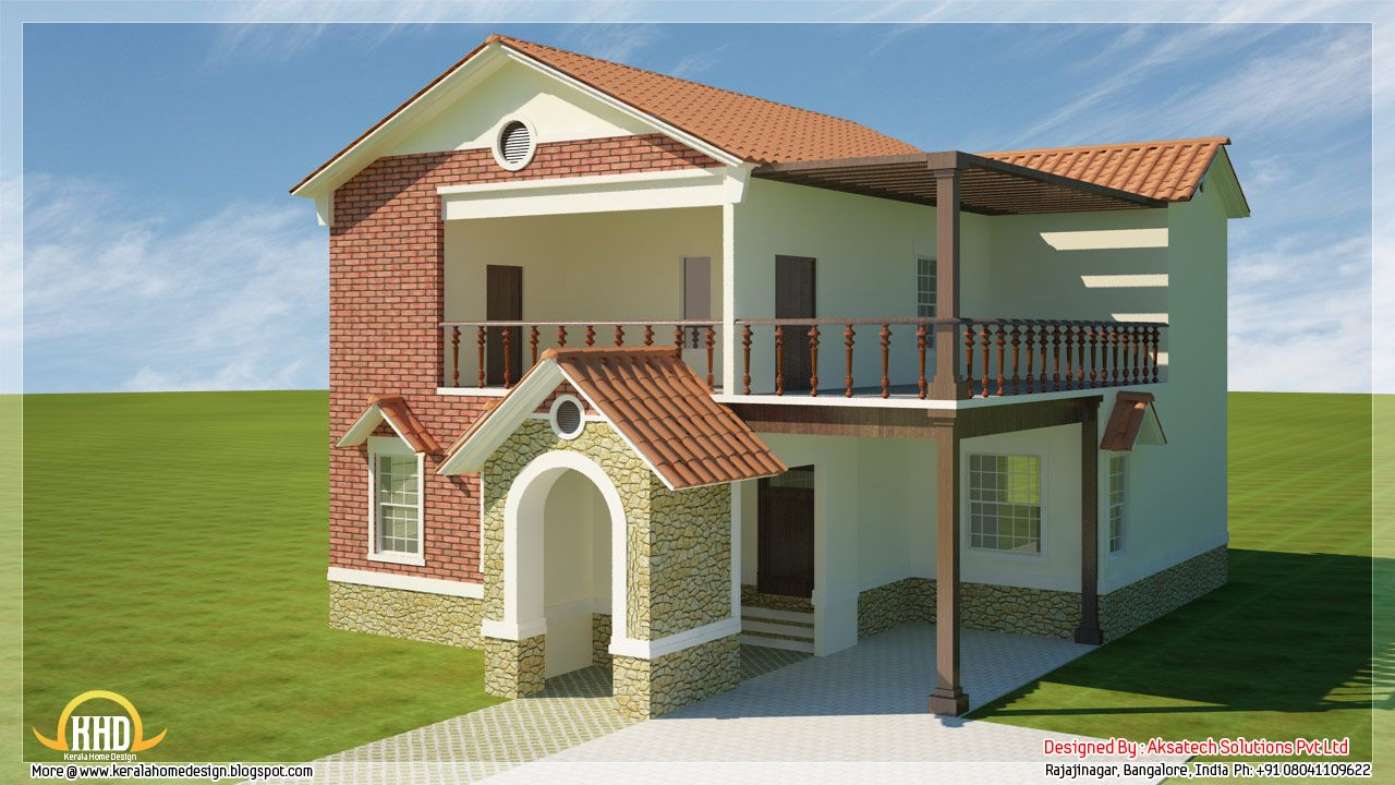 5 beautiful modern contemporary house 3d renderings kerala home