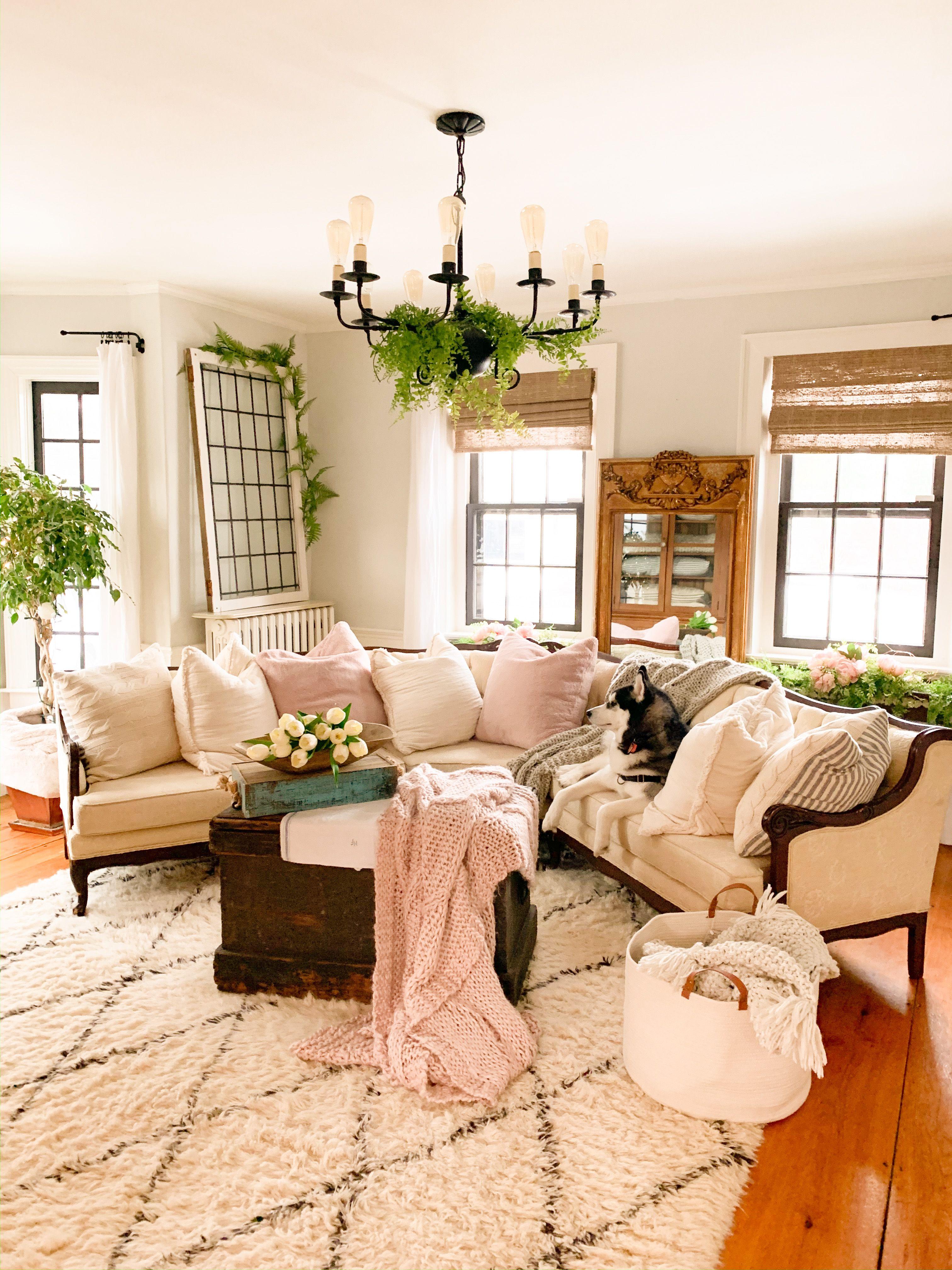 Vintage Rustic Cozy Cottage Farmhouse Livingroom in 3  Farm
