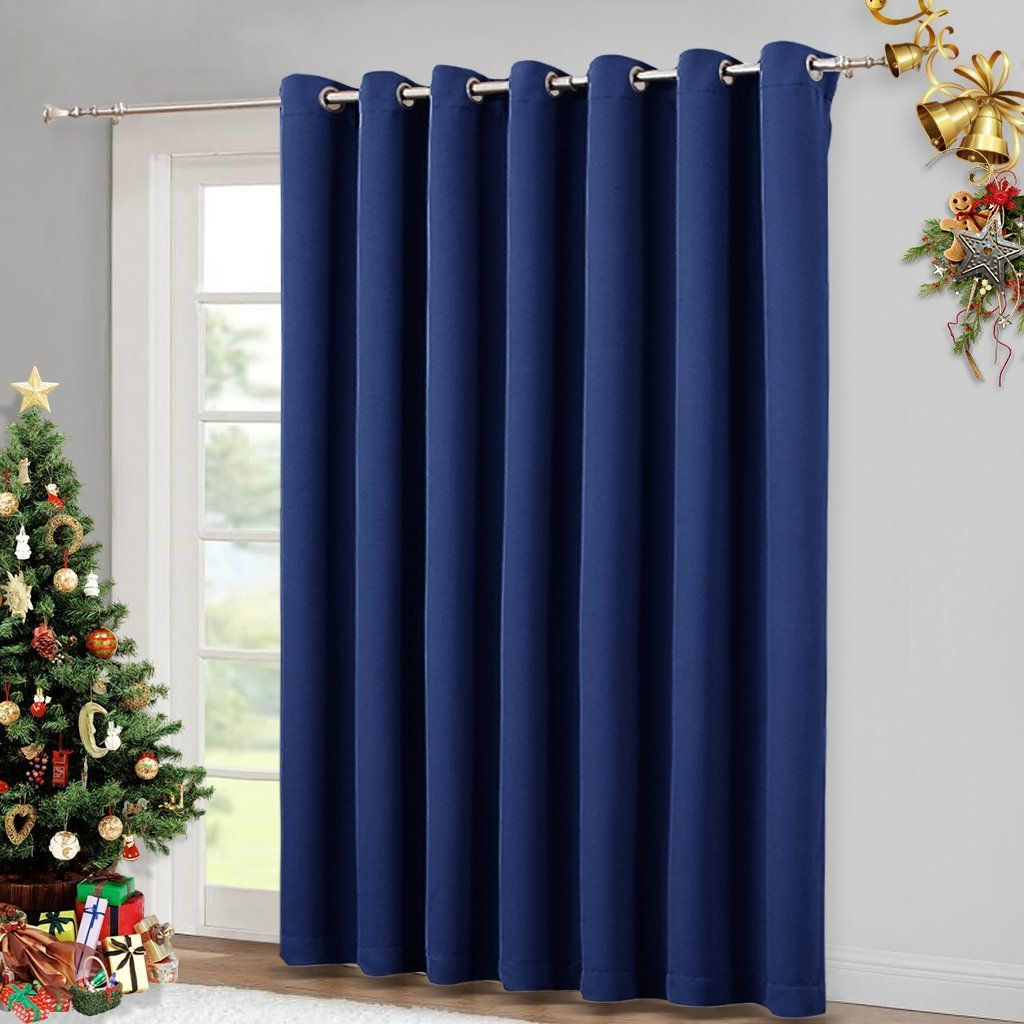 Curtain Panel Thermal Insulated Blackout Patio Door Privacy Blinds Wide Drapes