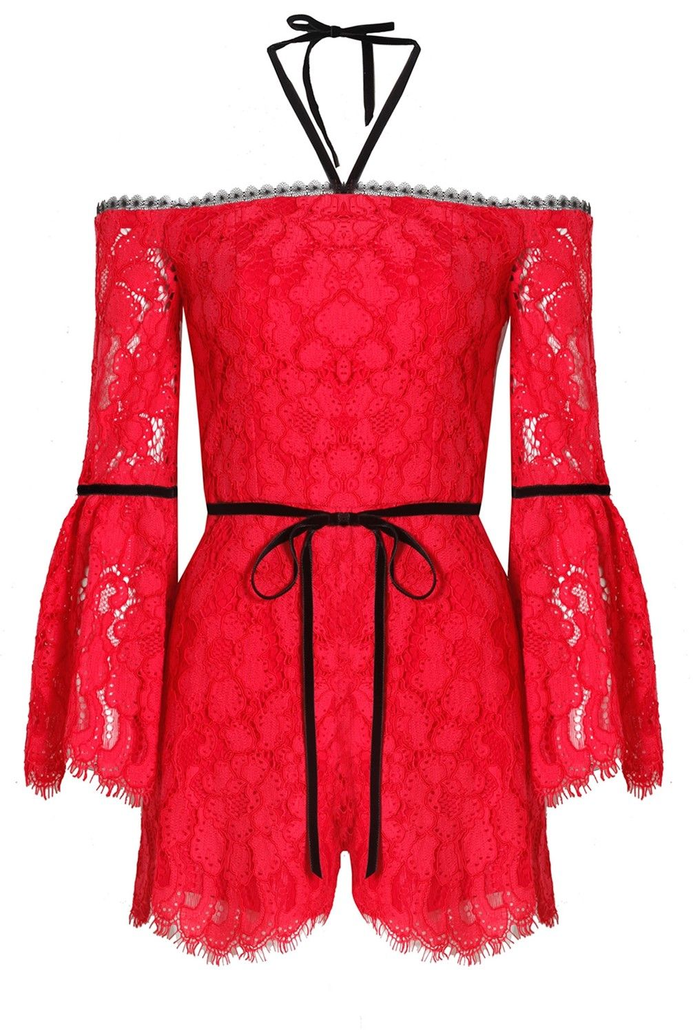 821a6723fedc Alexis Layla Romper Red Lace