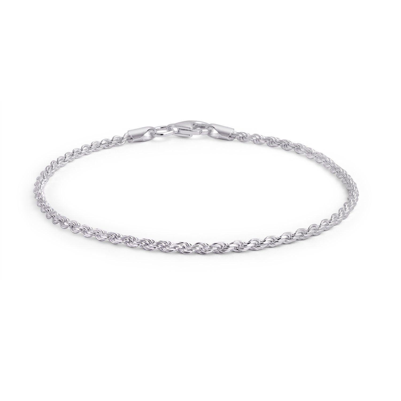 Einfache Plain Twist Rope Chain Armband 925 Sterling Silber 40 Gauge Armband Chain Einfache Plain Silber Sterling Twist New Silber
