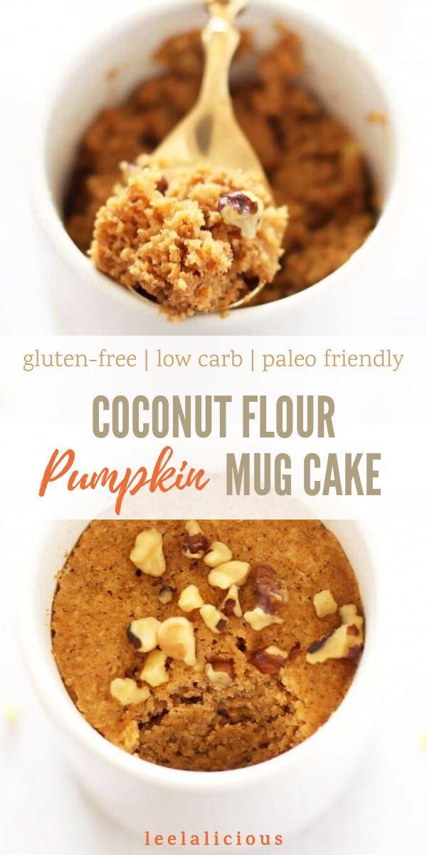 Paleo Pumpkin Mug Cake made with Coconut Flour - L
