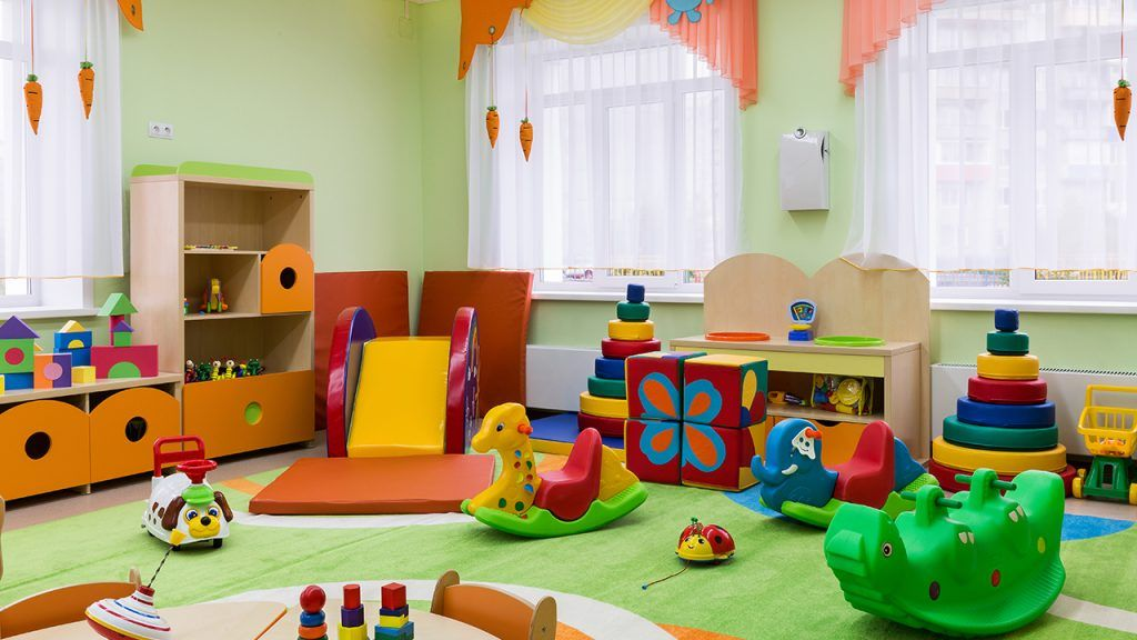 Useful 1 Year Old Playroom Ideas | Daycare Room Design, Childcare Center, Early Stimulation