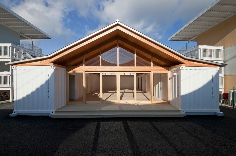 shipping container homes: shigeru ban, - onagawa, japan