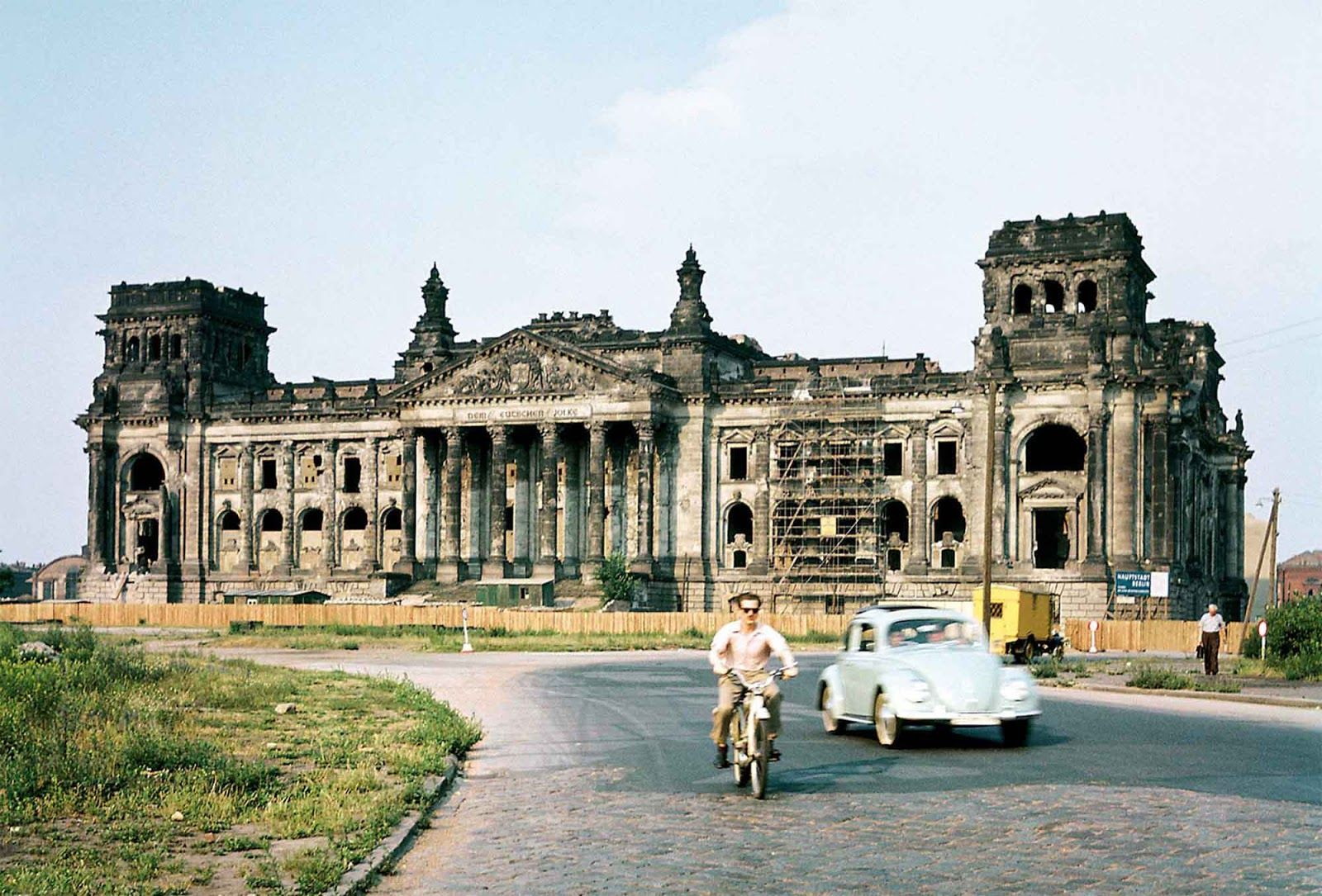 The Reichstag Building In Berlin Just Before The First Restoration Began 1958 Rare Historical Photos Germany Berlin Berlin Germany