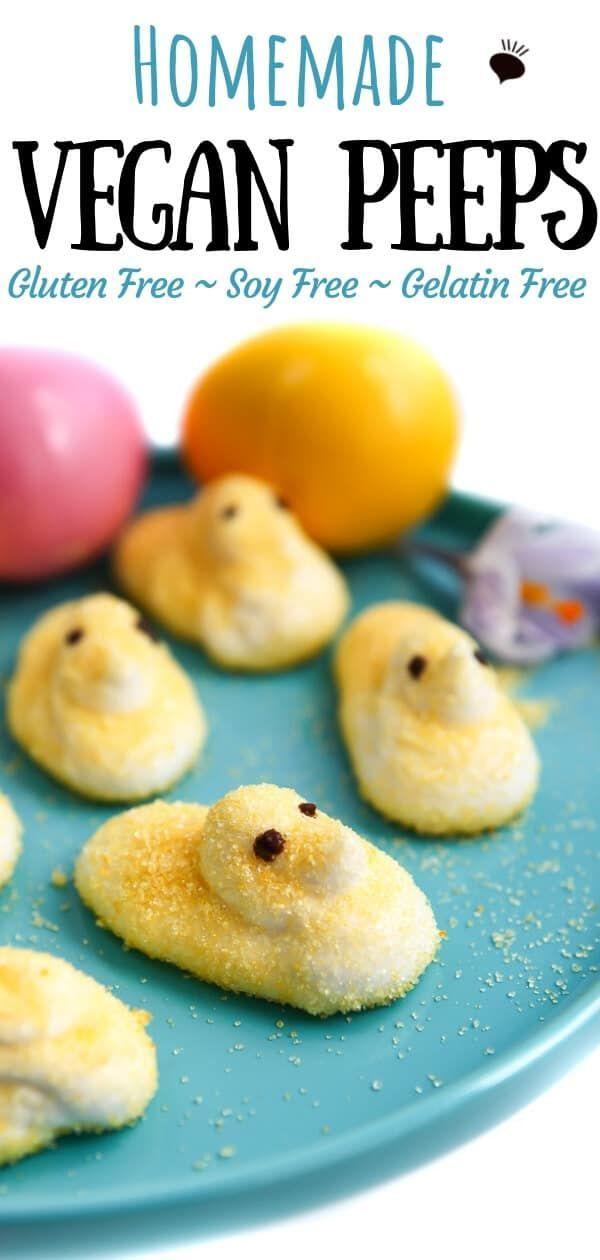 Homemade Vegan Marshmallow Peeps!