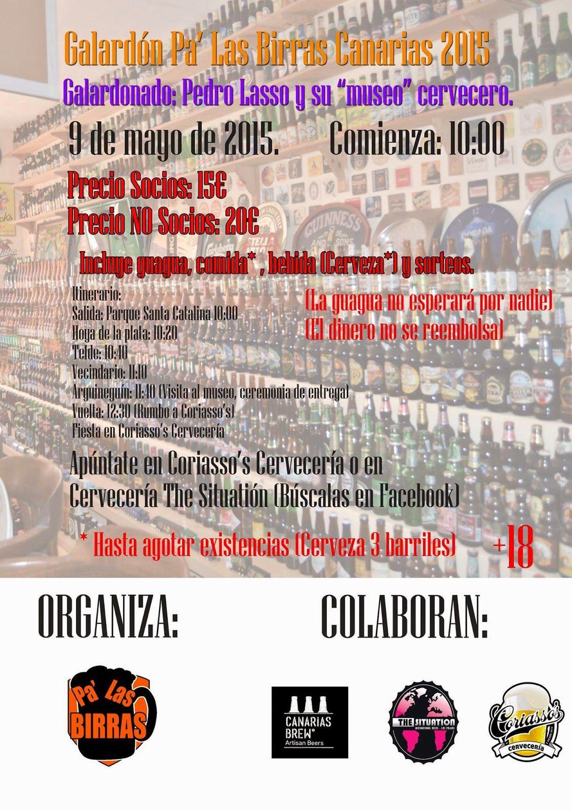 Pa' Las Birras: Galardón Pa' Las Birras Canarias 2015.