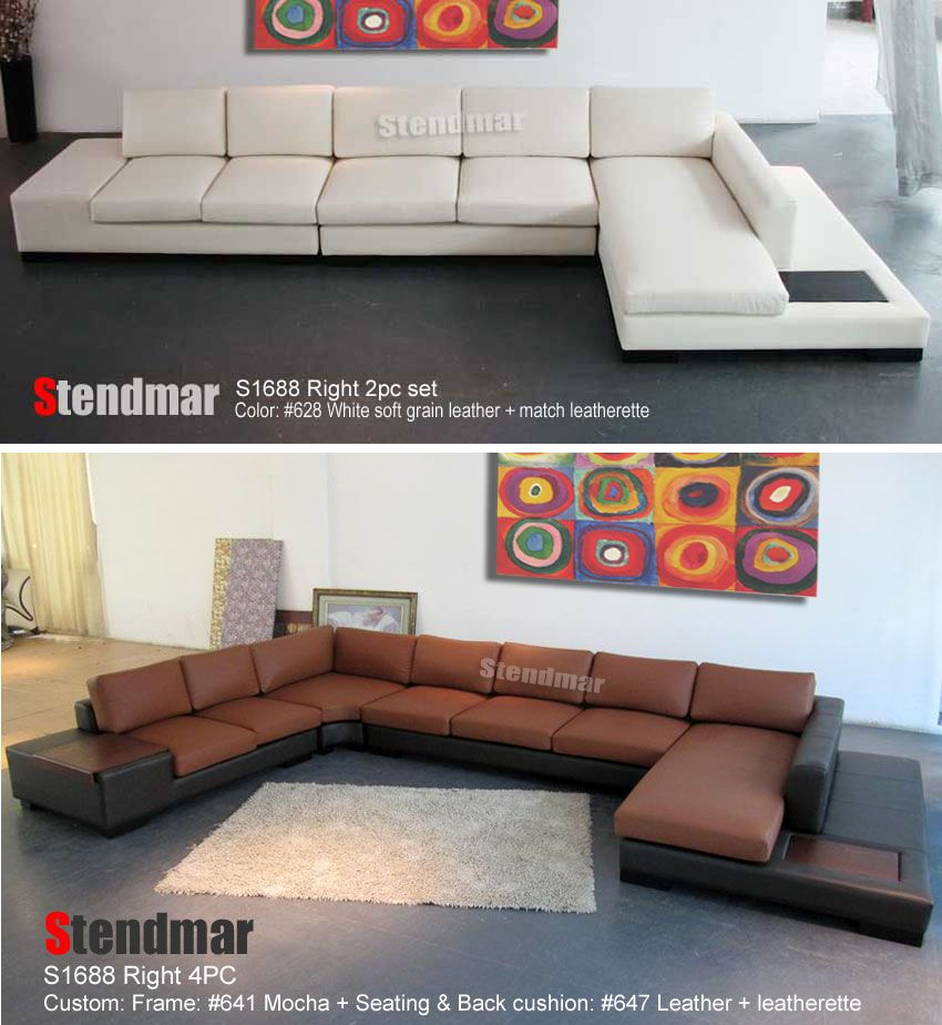 Stendmar Sectional Leather Sofa With Images Modern Furniture