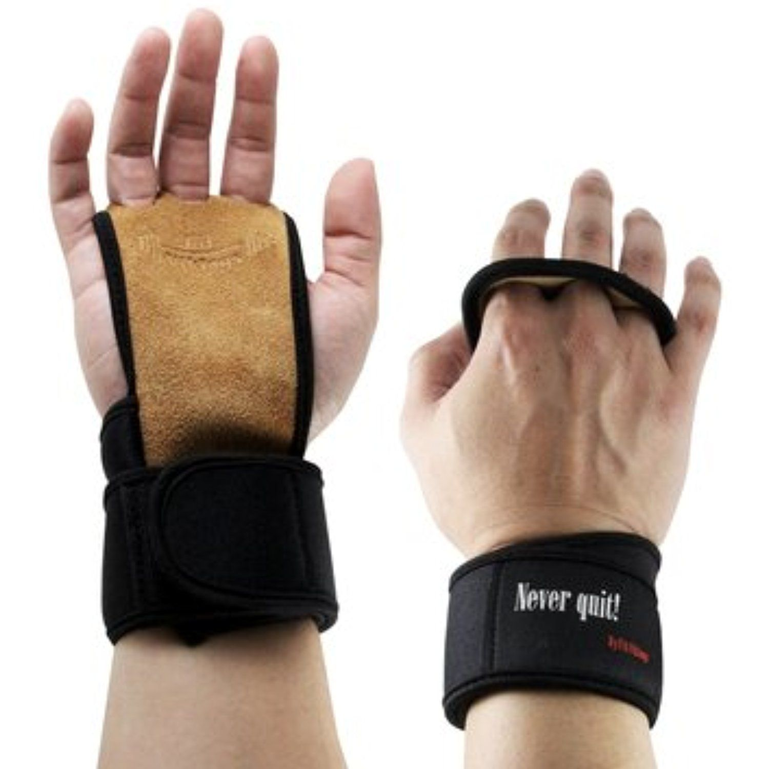 a506ecda3d Gym Gloves with Wrist Wraps - Hand Grips for Palm Protection - Workout  Equipment for Crossfit, Gym Workout,Weight lifting, Gymnastics, Biking -  Fits both ...