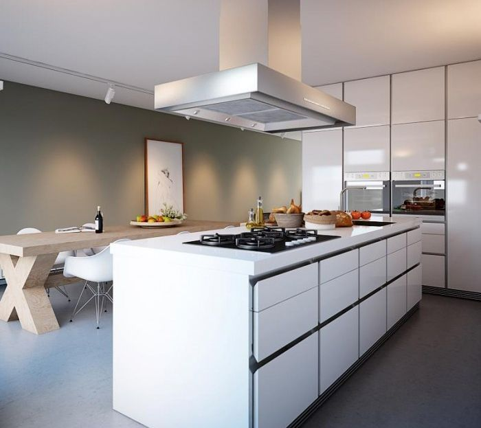 15 Extremely Sleek And Contemporary Kitchen Island Designs: Minimalist Home Captivates With Sleek Design And Ergonomic