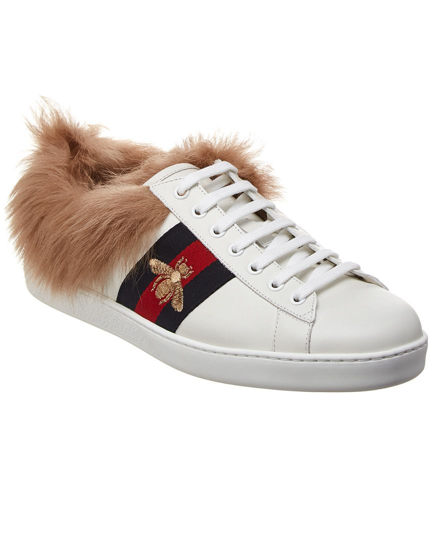 ee33e08ca7e7d GUCCI GUCCI ACE LEATHER SNEAKER.  gucci  shoes