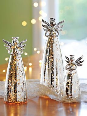 Handblown Glass Angel Figurines Led Statues Solutions
