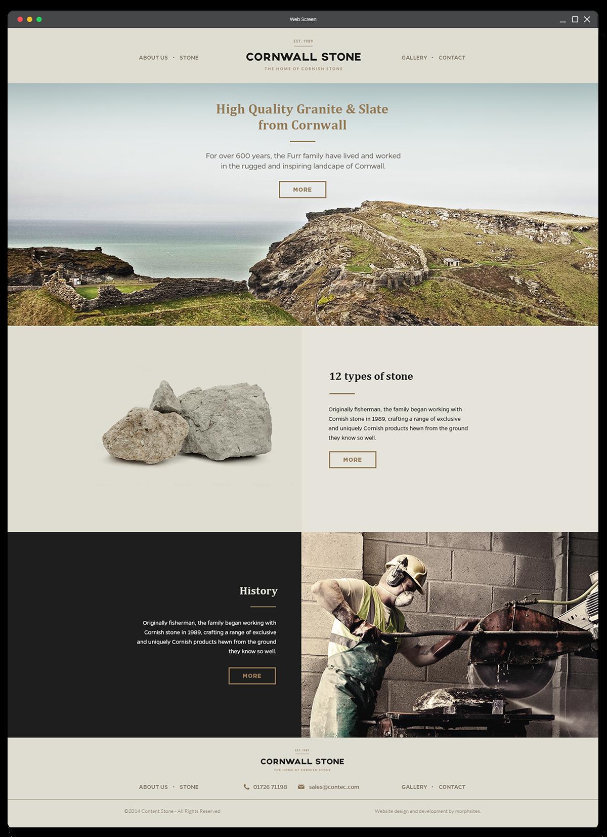 Cornwall Stone On Web Design Served Web Design Design Web App Design