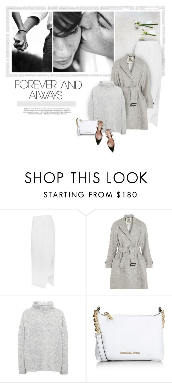 """Forever and Always..."" by erino9519 ❤ liked on Polyvore featuring Cushnie Et Ochs, Burberry, Annette Görtz, Michael Kors, Tabitha Simmons, vintage, women's clothing, women, female and woman"
