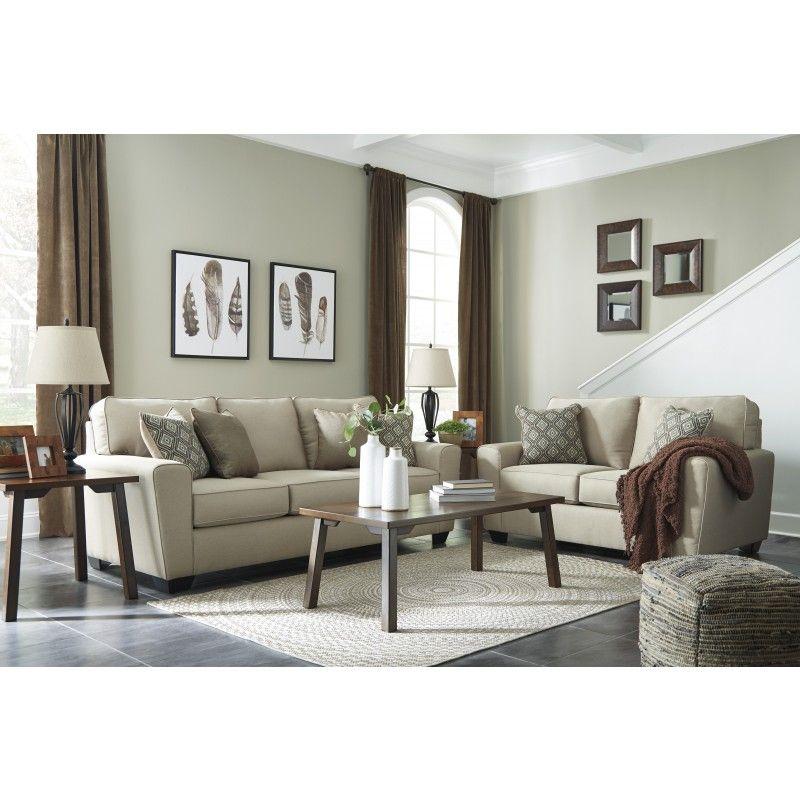 Calicho Ecru Living Room Furniture Ashley Furniture Ashley Furniture Sofas