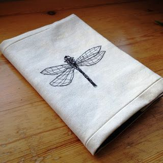 sewing machine embroidery - buttons and paint...: ... and Thread Sketching a Notebook Cover