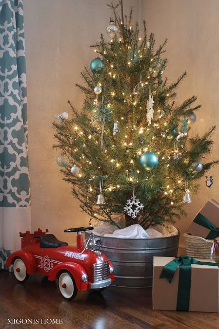 how to decorate a christmas tree galvanized bucket christmas tree stand - Decorative Christmas Tree Stands