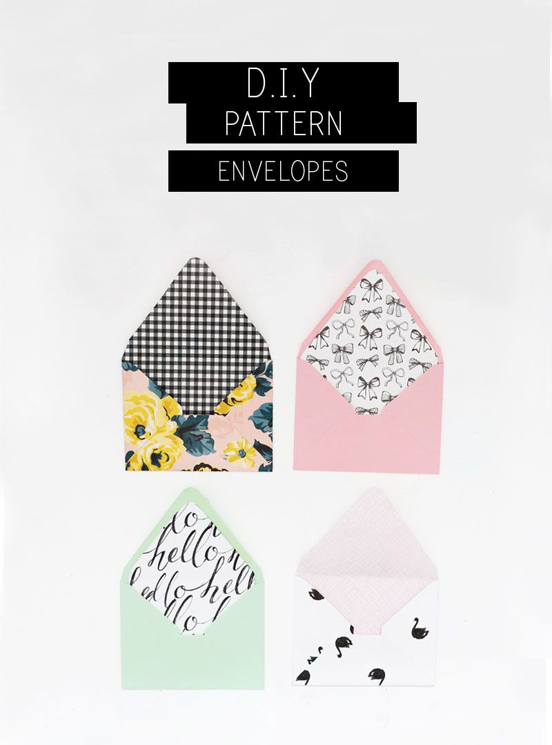 The Cutest Diy Lined Envelopes  Diy Envelope Liners Diy Envelope