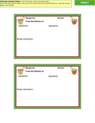 Hot Cocoa Recipe Card Template Type Your Own Recipes Using My