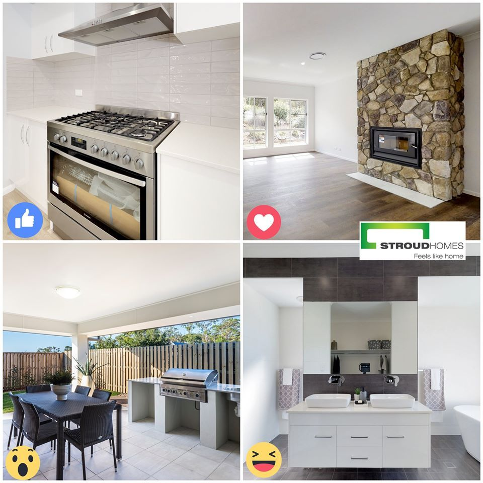 What would your 'must have' feature be when building your new home? Vote for your favourite. 5 burner stove, luxury fireplace, outdoor kitchen or double vanities. #stroudhomes #feelslikehome #newhome #blackandwhitequotes #happy #exciting #lovedbyyou