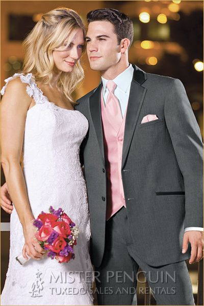 Country Wedding Attire For Men In Pink Or Turquoise
