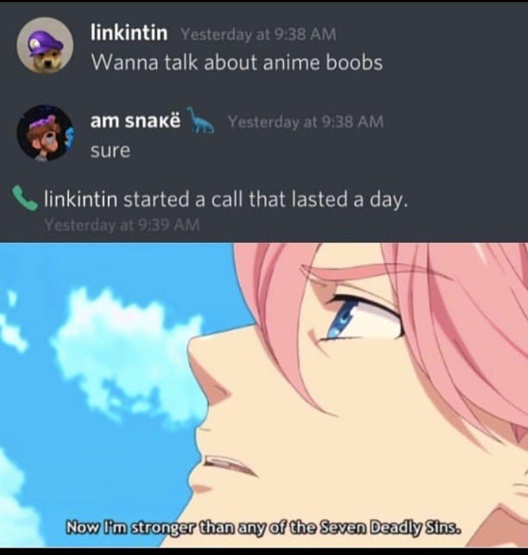 Anime Discord Meme Anime Memes Funny Really Funny Memes Boredom Cure