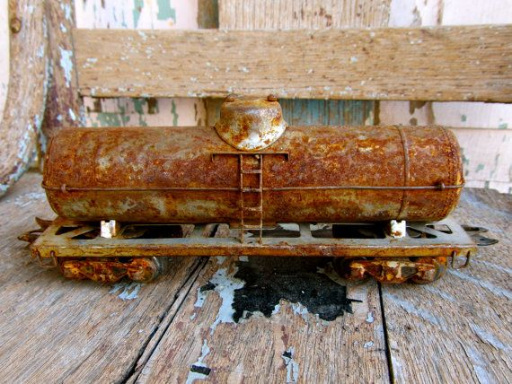 Someone Left Their Vintage Toy Train by PocketFullOfHeirloom, $20.99
