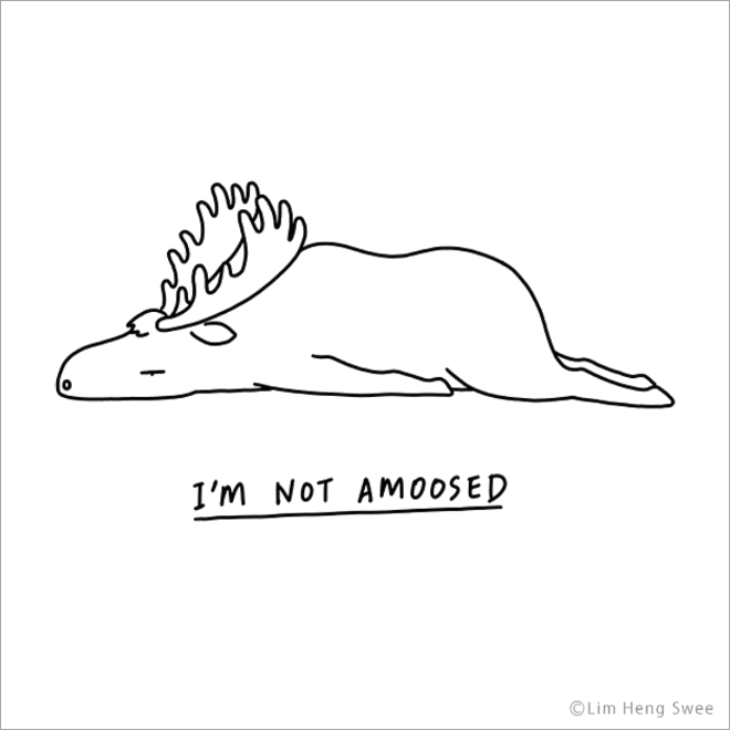 New Funny Illustration Punny Illustrations of Moody Animals Not amoosed. 11