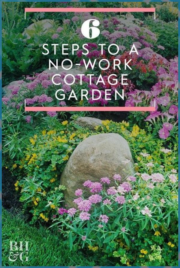 6 Steps to a No-Work Cottage Garden #Cottage #garden #Garden Party #Garden Plans #Herb Garden #NoWork #Secret Garden #Small Garden #steps