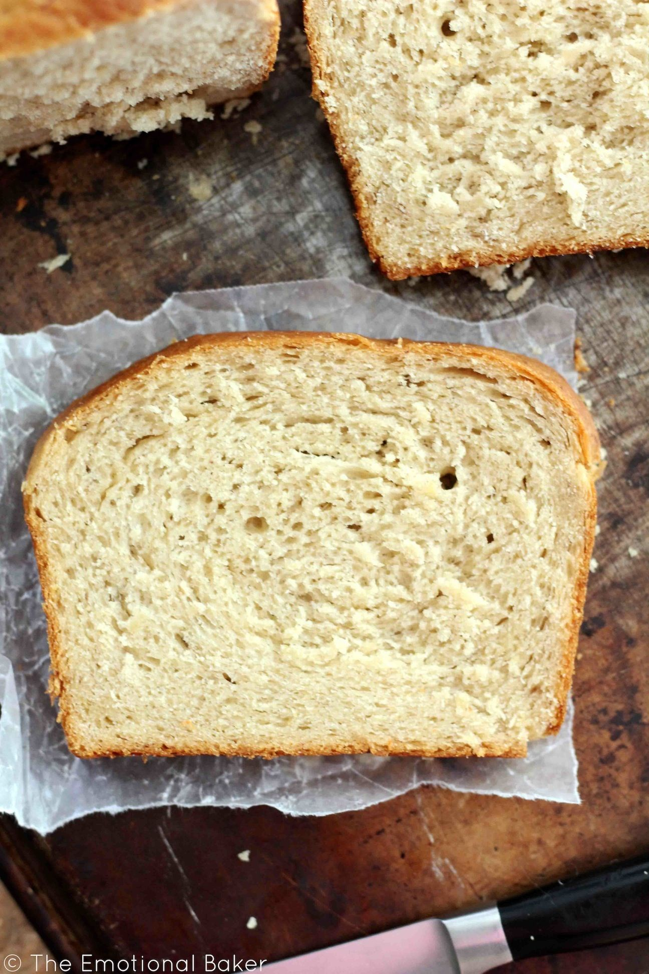 A yeasted bread filled with banana flavor and enhanced with cashew butter. This bread is soft and perfect for sandwiches.