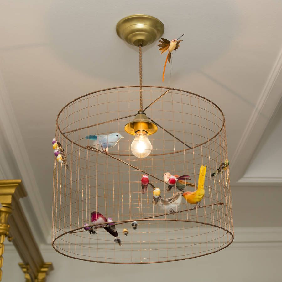 Stunning designer bird cage chandelier by mathieu challiresa copper bird cage chandelier arubaitofo Image collections