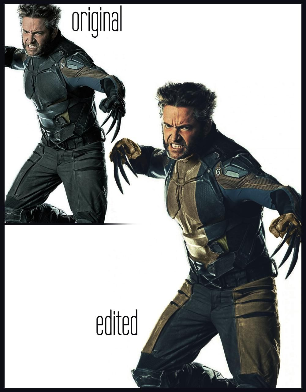 X Men Days Of Future Past Wolverine Suit Classic Suit Photoshop Wolverine Suit Old Man Wolverine Classic Suit