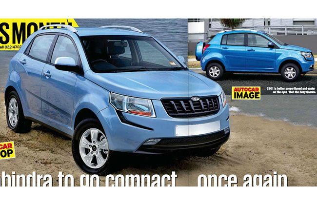Mahindra S101 Compact Suv Caught Testing To Rival Ecosport And Duster With Images Compact Suv Affordable Suv Renault Duster