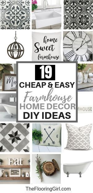 19 Cheap & Easy Farmhouse Home Decor DIY ideas. You will love these simple and affordable farmhouse style decor hacks to give your home an authentic and rustic look. #farmhousedecor  #ideas #easy #style #shopping #styles #outfit #pretty #girl #girls #beauty #beautiful #me #cute #stylish #photooftheday #swag #dress #shoes #diy #design #fashion #homedecor
