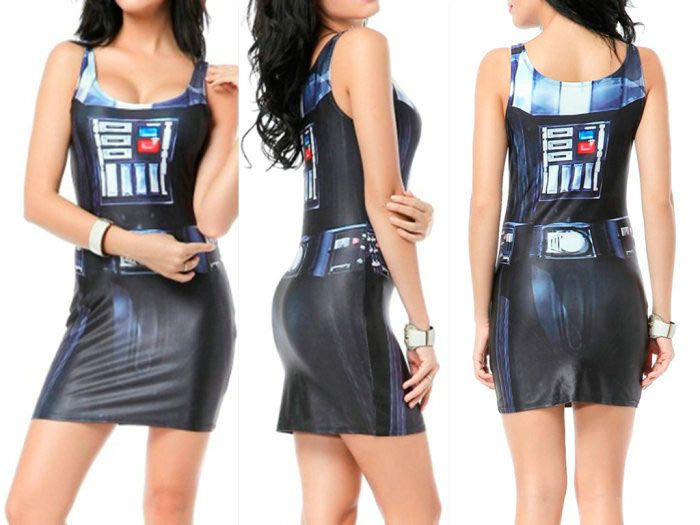 vestido de tirantes darth vader. star wars | star wars merchandising