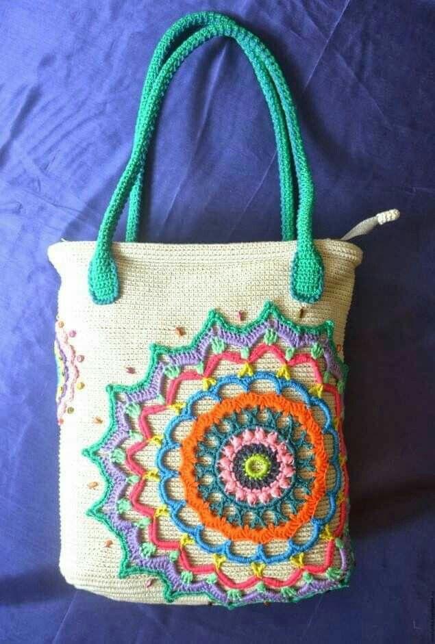 Mandala-Tasche | çanta | Pinterest | Häkeln