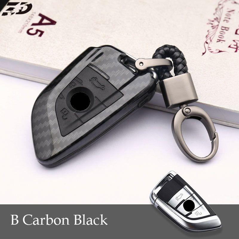 Carbon Fiber Pvc Car Key Case Cover For Bmw G30 F20 F30 X1 For M
