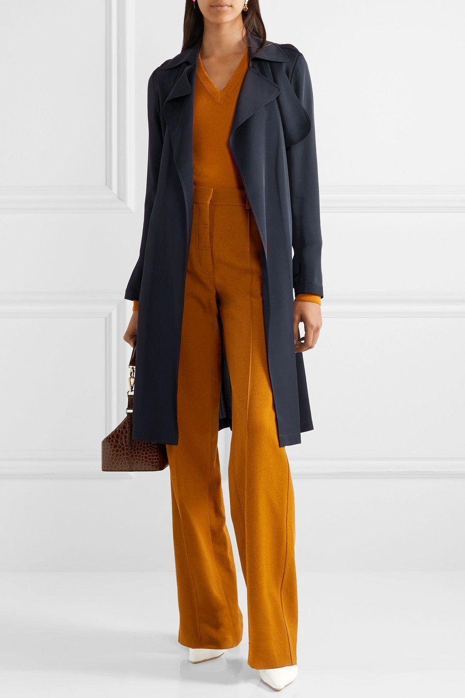a62abd7c40 Theory - Oaklane silk trench coat in 2019 | 2017 | Coat, Coats for ...