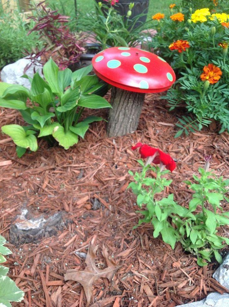 Green Mosaic Mushroom Led Solar Stake Stick Light
