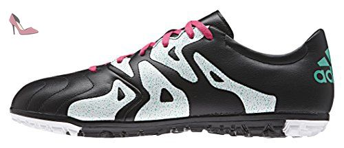 adidas X 15.3 TF Leather, Chaussures de Football Homme, Multicolore-Varios Colores (Negro/Rosa/Blanco (Negbas/Rosimp/Menimp)), 42 EU