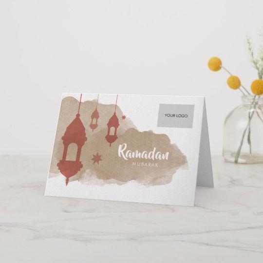 ramadan corporate greeting card  red  zazzle in 2020
