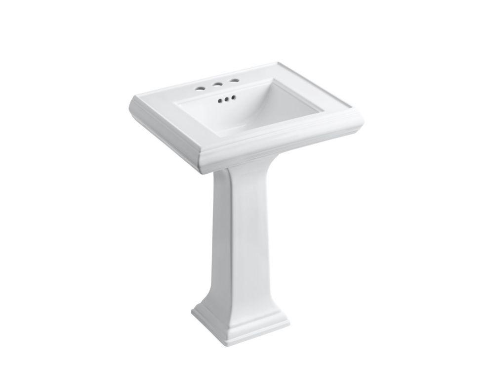 Classic 24 Pedestal Bathroom Sink With 4 Centerset Faucet Holes