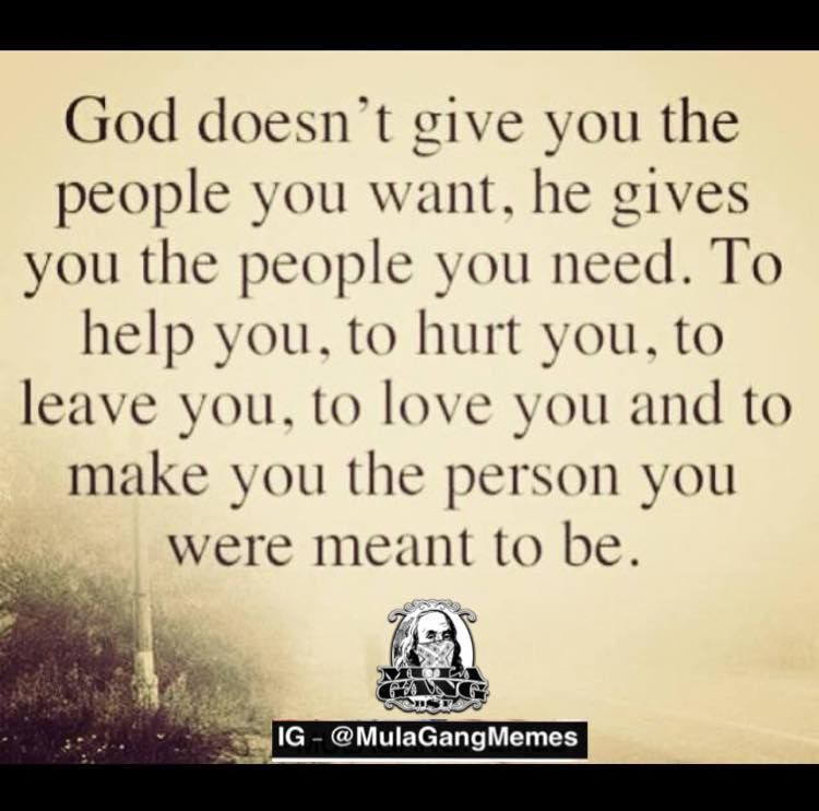 The person who ur meant to be! Keep on keeping on!!