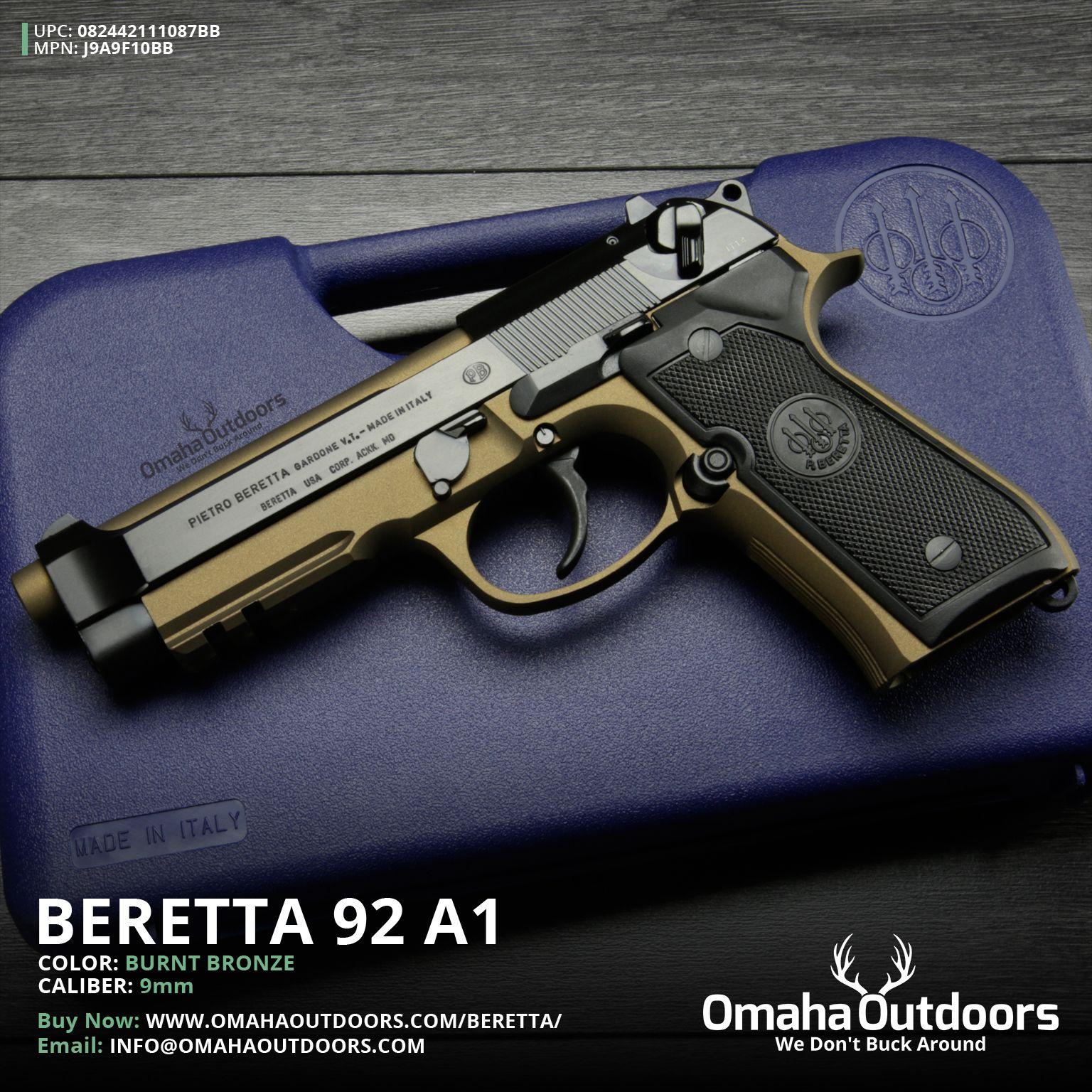 Beretta 92A1 17rd capacity  Under barrel rail system  And a